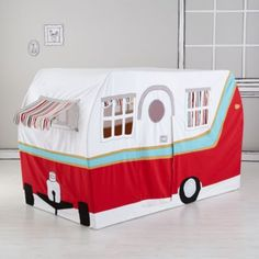 How cool is this for a pop up play tent!!??   Jetaire Camper Play Tent  | The Land of Nod