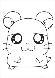 Hamtaro Coloring pages for kids. Printable. Online Coloring. 23