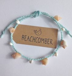beach anklet mermaid jewelry shell jewelry by beachcombershop