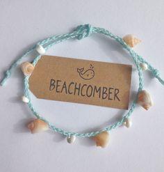beach anklet mermaid jewelry shell jewelry by beachcombershop