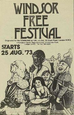 The Windsor Free Festival 1973: Pink Fairies, Ducks Deluxe, Skin Alley, Global Village, Tracking Co., Third Ear Band, Camel, Ace.
