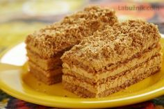 Recept: Marlenka - starodávný recept ruských žen * na Labužník. Mexican Food Recipes, Sweet Recipes, Czech Desserts, Hungarian Cake, Different Cakes, Polish Recipes, Chocolate Chip Oatmeal, Fancy Cakes, Honey
