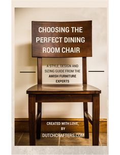 DutchCrafters Ultimate Guide To Dining Chairs by DutchCrafters Amish Furniture via slideshare