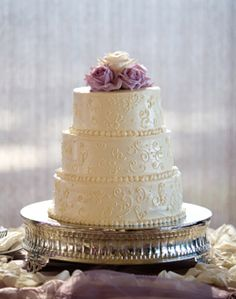 WeddingChannel Galleries: White Wedding Cake...SImple and Absolutely Perfect! :)