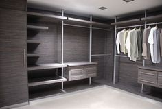 Walk in closet and bathroom in same material - modern - Closet - Other Metro - Cocinas Internacionales
