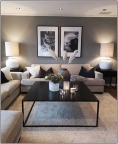 Keep up to date with the latest small living room decor ideas (chic & modern). Find good ways to get stylish design even if you have a small living room. Cozy Living Rooms, Living Room Grey, Apartment Living, Home And Living, Modern Living, Cozy Apartment, Minimalist Living, Apartment Furniture, Living Room Decor Ideas Apartment