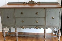 I love, love, love finding these Depression era buffets. All their carvings and chunky legs just ooze character and look fantastic painted. When I brought this girl home, I had just finished some ...