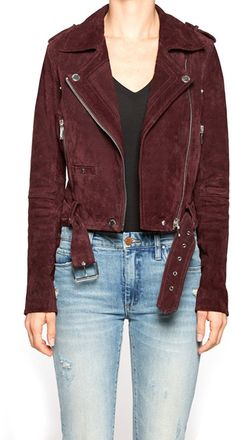 Blank NYC Suede Moto Jacket - ShopStyle Women