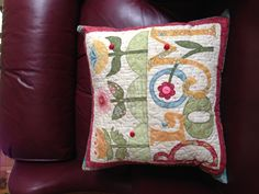 Bloom Pillow by Nancy Halverson this is cute!!!