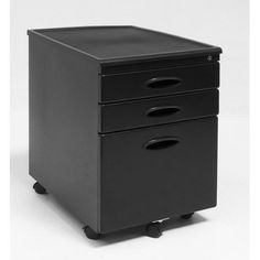 File Cabinet Finish: Black/Black by Studio Designs. $122.36. 51100 Finish: Black/Black Features: -Two top drawers.-One bottom drawer.-File cabinet accommodates letter or legal size files.-Locks to keep your business private. Options: -Available in black, pewter or silver finish. Color/Finish: -Black finish file cabinet has five wheels.-Pewter finish file cabinet has six wheels.-Silver finish file cabinet has seven wheels. Assembly Instructions: -Assembly required. Dimensi...