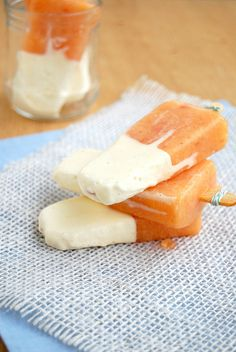 peaches + cream popsicles
