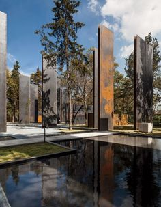 At Gaeta-Springall Arquitectos' memorial to victims of violence in Mexico, visitors can carve their own messages into the steel slabs