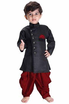 Buy this Boy's Cotton Silk Sherwani Suit. which gives you a elegant & smart look. #sherwani #fashion #trendy #stylish #boystyle
