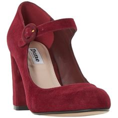 Dune Armorel Mary Jane Block Heel Court Shoes, Burgundy Suede (£75) ❤ liked on Polyvore featuring shoes, pumps, low pumps, round toe mary jane pumps, burgundy pumps, burgundy suede pumps and burgundy heels pumps