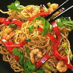 Shrimp chow mein wok stir fry recipe