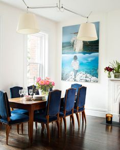 The Fashionable Life: designer Gabriela Perezutti's West Village Apartment - In the dining room, a farmhouse table from the 1800s and Art Deco chairs.