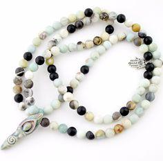 Amazonite Goddess mala necklace