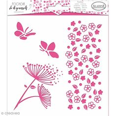 Use with paint, die, pastes and more on cards, textiles and other materials. Easily washable with water. Textiles, Diy Fleur, Deco Nature, Flower Svg, Card Making Supplies, Tampons, Clear Stamps, Card Stock, Stencils