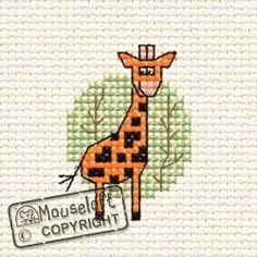 At The Zoo Giraffe Cross Stitch Kit 00A-008atz