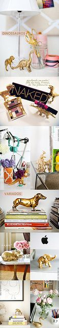 DIY spray paint plastic animals, cheap and easy decor :) Spray Paint Plastic, Diy Spray Paint, Painting Plastic, Diy Projects To Try, Crafts To Do, Craft Projects, Arts And Crafts, Diy Crafts, Do It Yourself Fashion