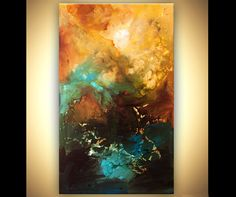 ORIGINAL Painting 60 x 36 Abstract Acrylic Art by OsnatFineArt