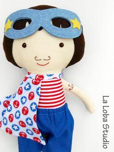 nice #SUPERHERO, #dolls, #nautical_decor, #navy_decor, #fabric_doll, #sailor_doll, #boydoll, #doll for boys, #ragdoll, #clothdoll, #handmadedolls, #sailor