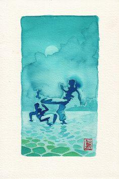 Encres : Capoeira – 334 [ #capoeira #watercolor #illustration]