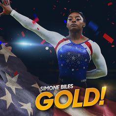 Simone Biles is the Rio 2016 Olympic All-Around GOLD medalist! #Rio2016 Via NBC Olympics  · 8/11/16