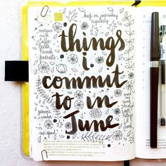 Day 31 of #listersgottalist: things I commit to doing in June  #journal…                                                                                                                                                                                 More