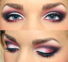Idea di trucco per occhi azzurri