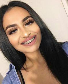 for more gorgeous queens👑 Braces Tips, Getting Braces, Cute Braces, Makeup Looks, Face Makeup, Natural Hair Styles, Short Hair Styles, Brace Face, Braces Colors
