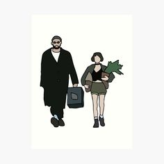 'Leon: The Professional' Art Print by yowisy Leon The Professional Mathilda, The Professional Movie, Cute Friend Pictures, Human Drawing, Cute Friends, Hand Embroidery Patterns, Art Sketches, Comic Art, Pop Art
