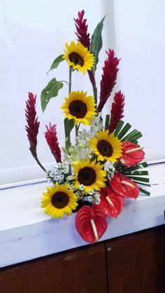 Church flower arrangement - 22 March 2015                                                                                                                                                     More
