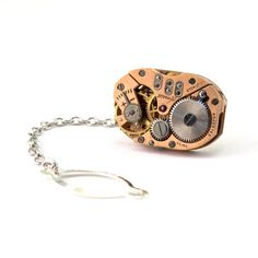 Steampunk Tie Tack  Handsome Mens Vintage by LondonParticulars, $42.00