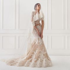 Beautiful wedding dress that reveals just enough skin on your big day