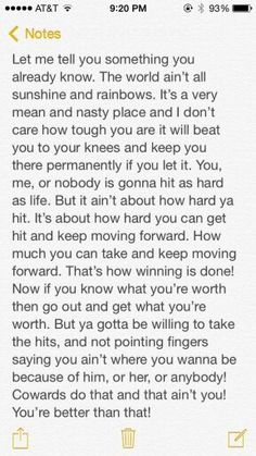 From a great man- Rocky Balboa