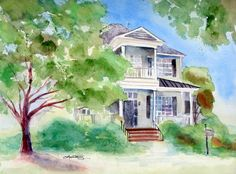 watercolor example- one idea: I really like the loosely defined leaves/ greenery, without a defined edge or outline...