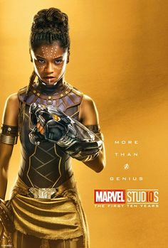 Over the weekend, Marvel Studios released over thirty golden new tenth anniversary posters, featuring all of your favorite Avengers coming together and proving that they are more than just heroes. Marvel Avengers, Marvel Girls, Marvel Comics, Marvel Women, Marvel Heroes, Black Panther Marvel, Shuri Black Panther, Poster Marvel, Wakanda Marvel