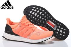 Men s Women s Adidas Running Ultra Boost Shoes Hyper Orange Black b2d918b9c