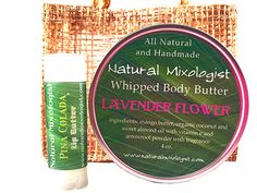 Lip Butter/Balm and Body Butter Combo in a bag by NaturalMixologist on Etsy