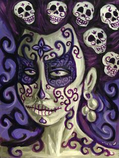 Day of the Dead Art | Day of the Dead Girl painting 2 by *rawjawbone on deviantART