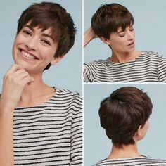 Please check more! Awesome Top 15 Trends In Pixie Cut Oval Face To Watch Pixie Haircut For Thick Hair, Longer Pixie Haircut, Short Pixie Haircuts, Cut My Hair, Wavy Hair, Short Hair Cuts, Short Hair Styles, Layered Haircuts, Oval Face Hairstyles
