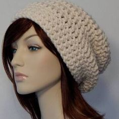 Crochet saggy hat