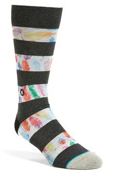 Men's Dwyane Wade & Stance 'Feathers' Crew Socks