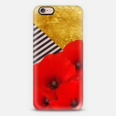 Poppies and Gold- - Classic Snap Case