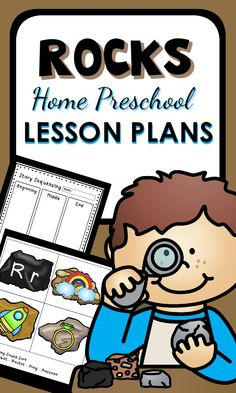Home Preschool Rocks Lesson Plans. Kids love these hands-on math, science, and reading activities