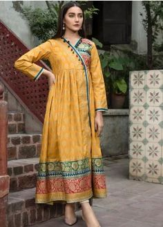 Buy LimeLight Winter Unstitched 2019 Collection - Volume 1 Printed Cotton Unstitched Kurties from Sanaulla Store - Original Products. Pakistani Fashion Party Wear, Pakistani Dresses Casual, Pakistani Wedding Outfits, Indian Gowns Dresses, Pakistani Dress Design, Casual Dresses, Pakistani Frocks, Frock For Women, Stylish Dress Designs