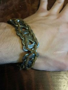 Bicycle Chain Bracelet  #upcycled #jewelry