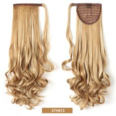 """20"""" Long Curly Wrap Around Ponytail Hair Extension Synthetic Hair"""