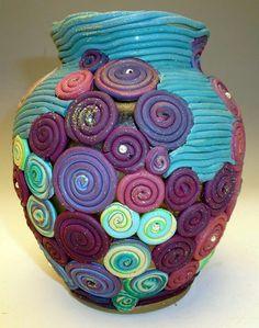 Scrap Clay Idea Vase